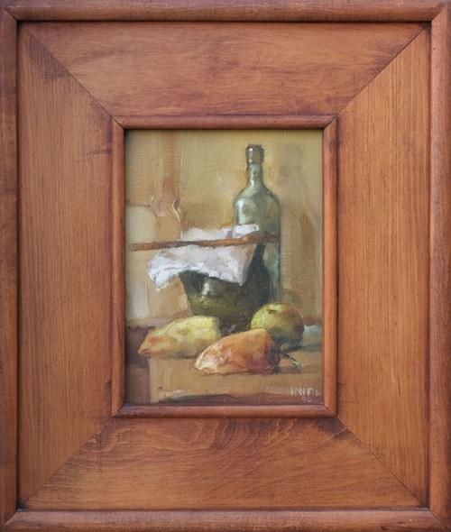 Obraz do salonu artysty Józef Panfil pod tytułem Martwa natura z butelką i paprykami