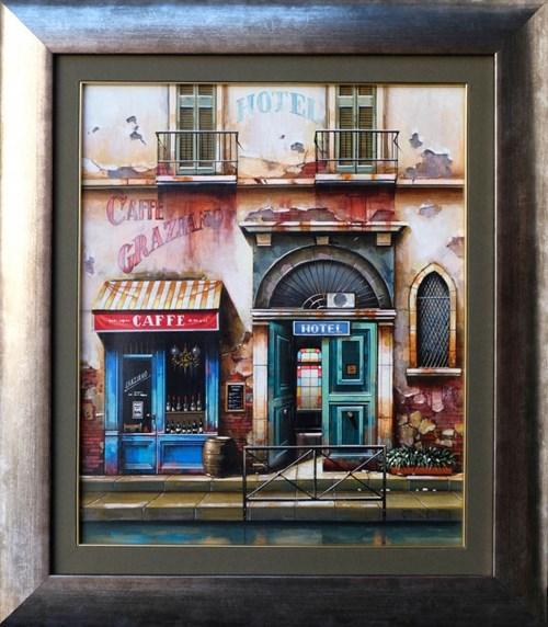 Obraz do salonu artysty Jan Stokfisz Delarue pod tytułem Cafe Graziano