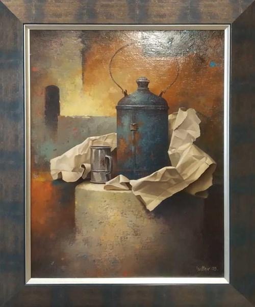 Obraz do salonu artysty Edward Szutter pod tytułem Anepigraf VI z cyklu Pod pozorem codzienności