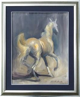 Living room painting by Agnieszka  Słowik-Kwiatkowska titled Gray Horse