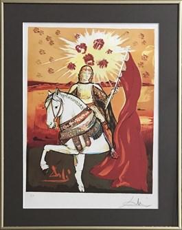 Grafika do salonu artysty Salvador Dali pod tytułem Cabellero De Oros, Serie Le Tarot