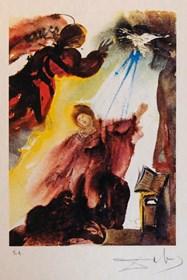 Grafika do salonu artysty Salvador Dali pod tytułem Zwiastowanie, EA, sygnowany