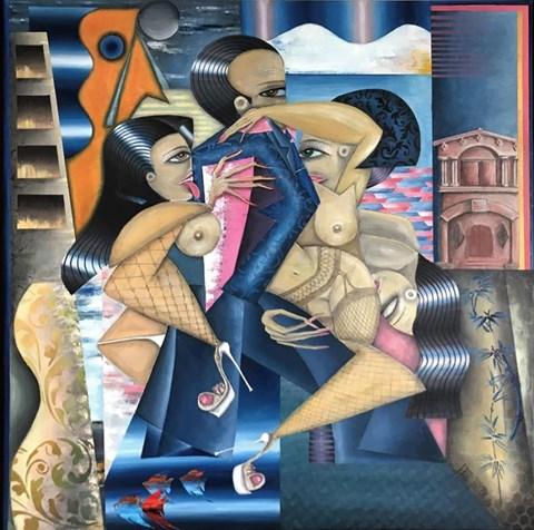 Obraz do salonu artysty Robert Jadczak pod tytułem Villa Certosa