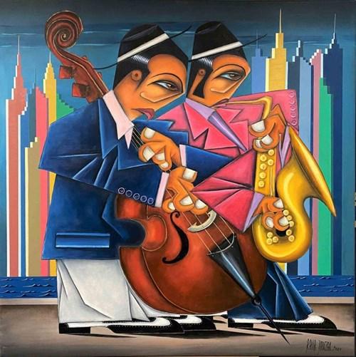 Obraz do salonu artysty Robert Jadczak pod tytułem Dixieland on Hudson
