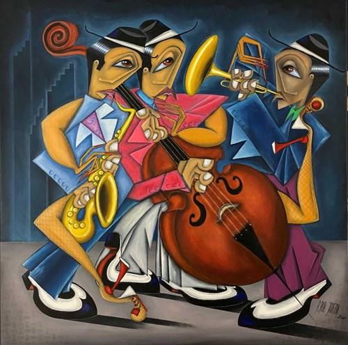 Obraz do salonu artysty Robert Jadczak pod tytułem She is crazy about jazz