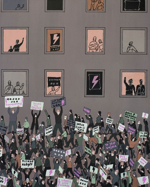 Obraz do salonu artysty Michał Cygan pod tytułem Strajk Kobiet