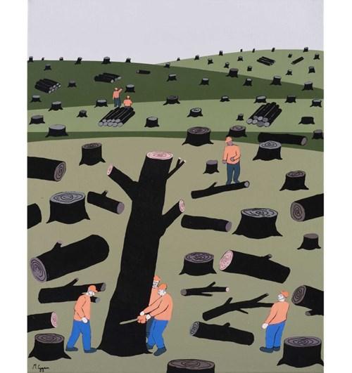 Obraz do salonu artysty Michał Cygan pod tytułem Ostatnie drzewo
