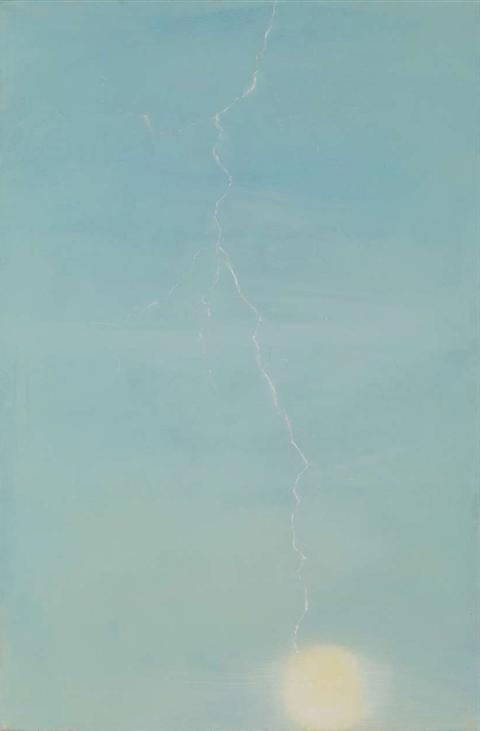 Obraz do salonu artysty Cyryl Polaczek pod tytułem Piorun uderzył w słońce