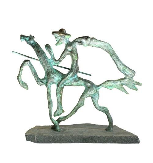 Rzeźba do salonu artysty Bronisław Chromy pod tytułem Don Kichot