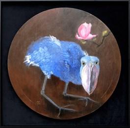 Obraz do salonu artysty Artur Cieślar pod tytułem Tancerz Butoh z magnolią