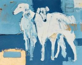 Obraz do salonu artysty Lucas Lucaprio pod tytułem Psy razem
