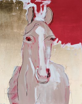 Living room painting by Lucas Lucaprio titled Horse Love