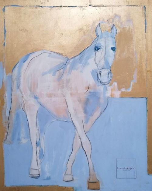 Obraz do salonu artysty Lucas Lucaprio pod tytułem Koń