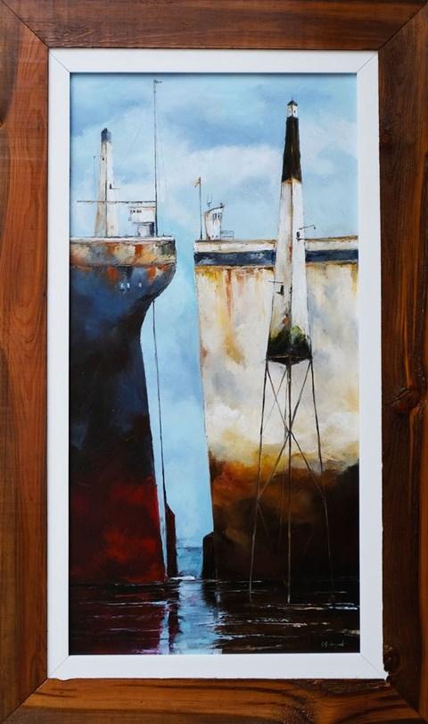 Obraz do salonu artysty Gabriel Grabczyński pod tytułem Gra w statki