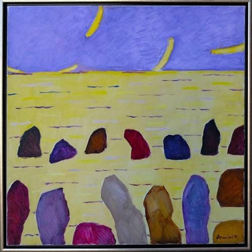 Obraz do salonu artysty Tadeusz Dominik pod tytułem Morze Żółte