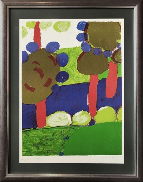 Grafika do salonu artysty Tadeusz Dominik pod tytułem Drzewa
