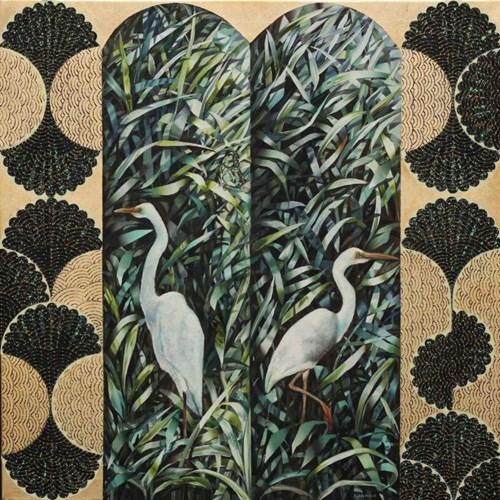 Obraz do salonu artysty Katarzyna Stelmach pod tytułem Kompozycja z motylem