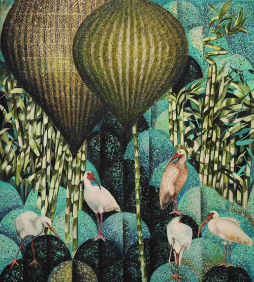 Obraz do salonu artysty Katarzyna Stelmach pod tytułem Kompozycja z ibisami