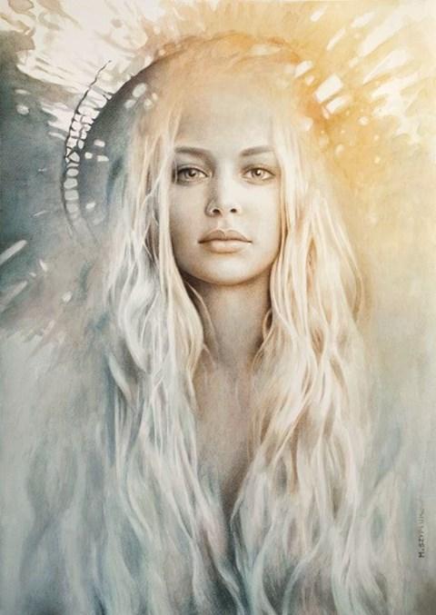 Obraz do salonu artysty Maria  Szypluk pod tytułem Srebrna Królowa