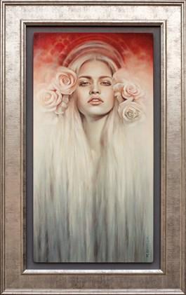 Obraz do salonu artysty Maria  Szypluk pod tytułem O zachodzie słońca
