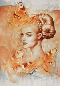 Obraz do salonu artysty Maria Szypluk pod tytułem W krainie motyli
