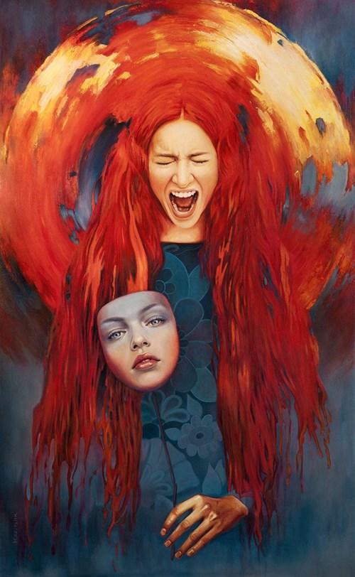 Obraz do salonu artysty Maria Szypluk pod tytułem Za maską