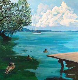 Obraz do salonu artysty Anies Murawska pod tytułem Pejzaż mazurski