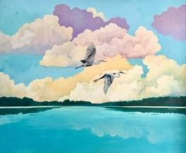 Obraz do salonu artysty Anies Murawska pod tytułem Czaple