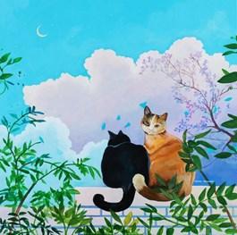 Obraz do salonu artysty Anies Murawska pod tytułem Felix i Luna