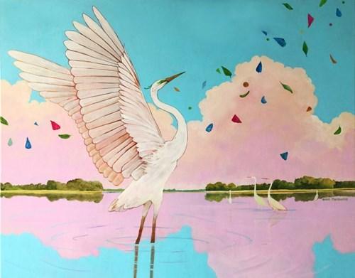 Living room painting by Anies Murawska titled Amazing Lake
