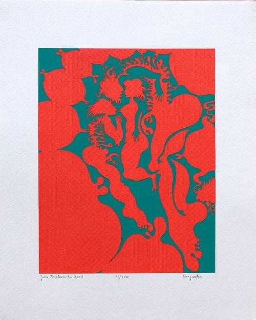 Grafika do salonu artysty Jan Dobkowski pod tytułem Kompozycja (16/100)
