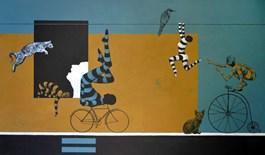 Obraz do salonu artysty Marcin Zalewski pod tytułem Przejście