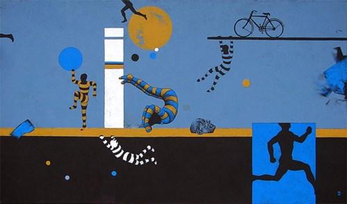 Obraz do salonu artysty Marcin Zalewski pod tytułem Akrobaci