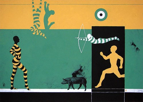 Obraz do salonu artysty Marcin Zalewski pod tytułem Cel