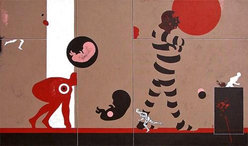 Obraz do salonu artysty Marcin Zalewski pod tytułem Początek
