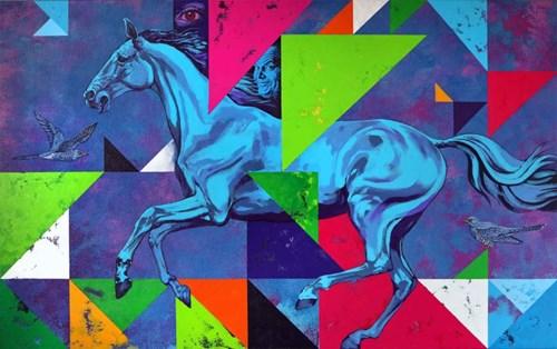 Obraz do salonu artysty Marcin Zalewski pod tytułem Pegaz