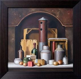 Obraz do salonu artysty Marian Michalik pod tytułem Martwa natura we wnęce