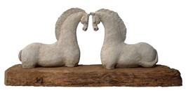 Living room sculpture by Adam Kołakowski titled 2 konie