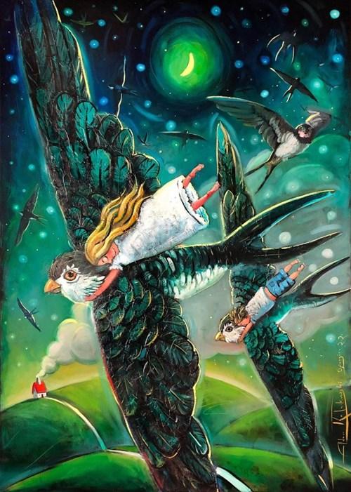 Obraz do salonu artysty Adam Kołakowski pod tytułem Powrót