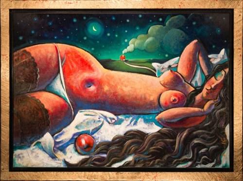 Obraz do salonu artysty Adam Kołakowski pod tytułem Kuszenie Adama