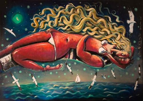 Obraz do salonu artysty Adam Kołakowski pod tytułem Sen syreny