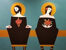 Obraz do salonu artysty Artur Smoła pod tytułem Dwa serca