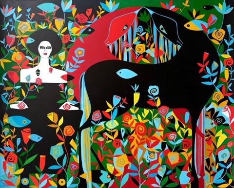 Obraz do salonu artysty Artur Smoła pod tytułem Krwawy Księżyc