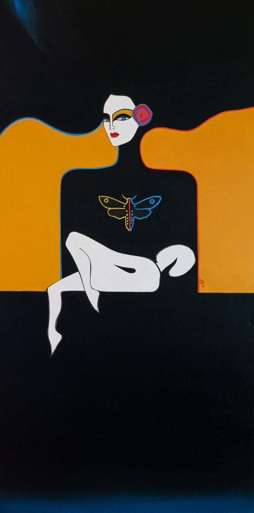 Obraz do salonu artysty Artur Smoła pod tytułem Madonna z dzieciątkiem