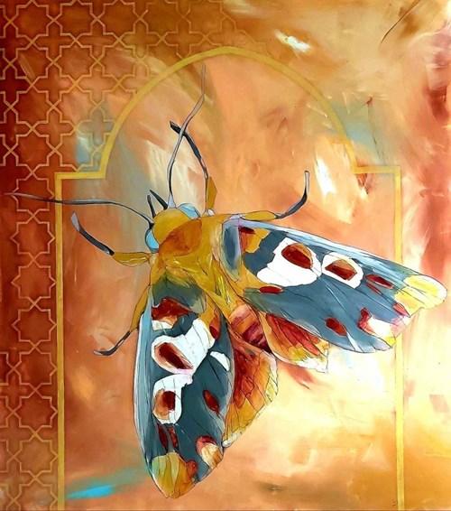 Obraz do salonu artysty Sylwia Wenska pod tytułem Ćma