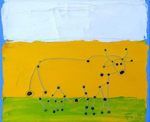 Obraz do salonu artysty Andrzej Fogtt pod tytułem Krowa