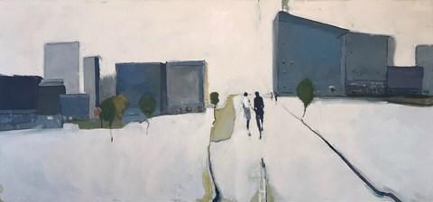 Obraz do salonu artysty Romuald Musiolik pod tytułem Miasto Holegoorn