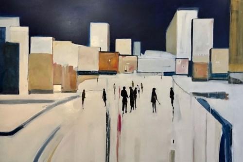 Obraz do salonu artysty Romuald Musiolik pod tytułem Miasto Parkaai