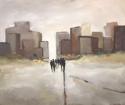 Obraz do salonu artysty Romuald Musiolik pod tytułem Sclous city