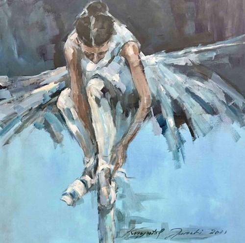 Obraz do salonu artysty Krzysztof Jarocki pod tytułem Baletnica niebieska
